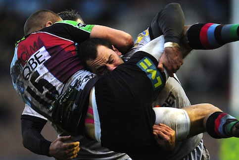 Quins make hard work of Falcons