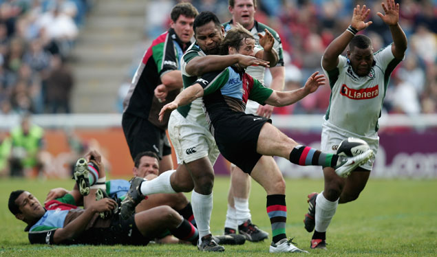 Four try Quins stall Exiles semi-final hopes