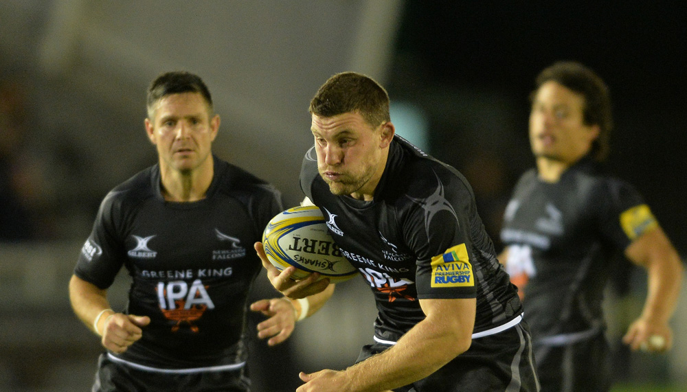 Newcastle Falcons team to face Bath Rugby