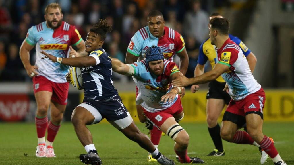 Paolo Odogwu on debut for Sale Sharks