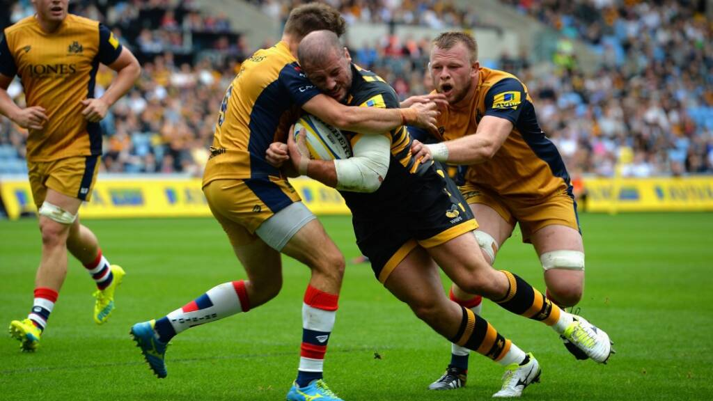 Jake Cooper-Woolley was among the try-scorers for Wasps. Picture: Getty
