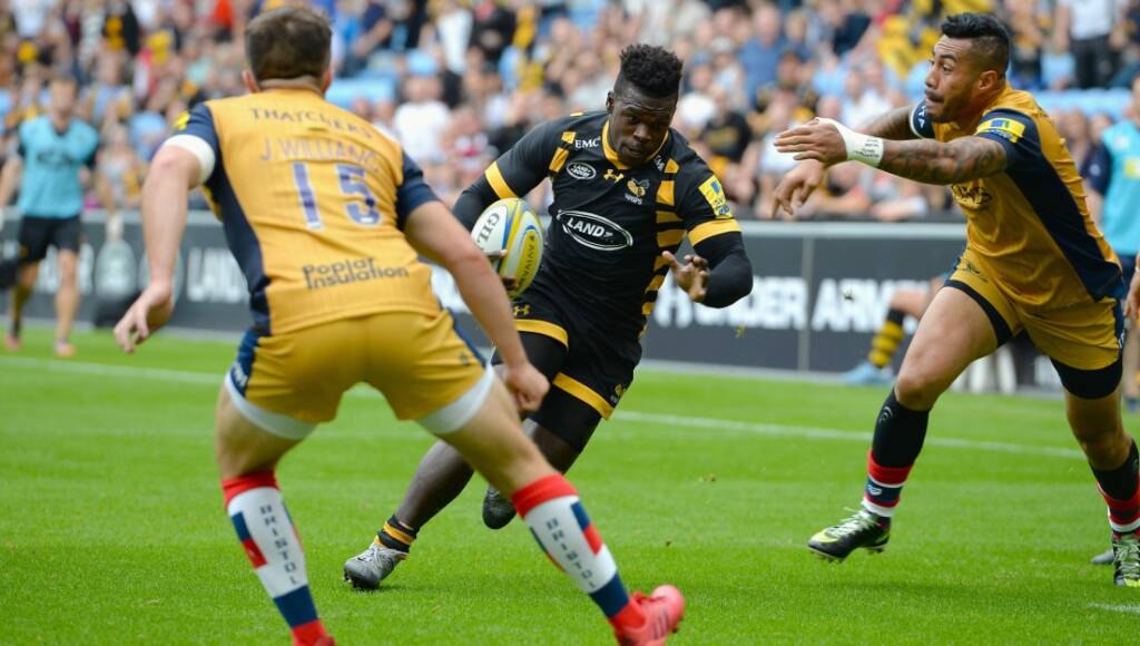 Christian Wade scoring against Bristol. Pic: Getty Images