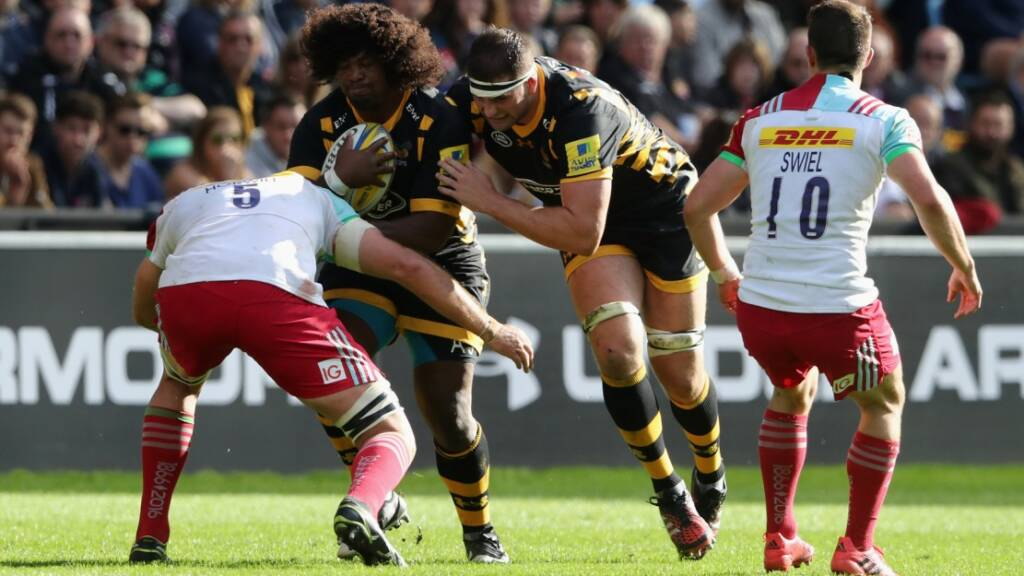 Ashley Johnson started a first Aviva Premiership Rugby game of the season against Harlequins
