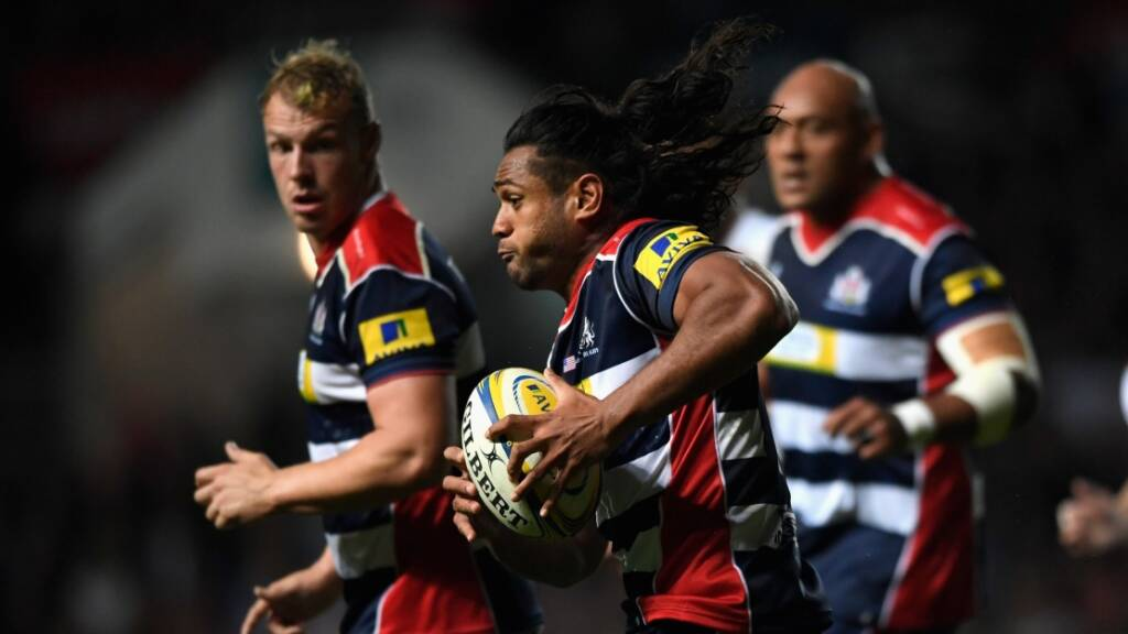 BRISTOL, ENGLAND - SEPTEMBER 23: Thretton Palamo of Bristol in action during the Aviva Premiership match between Bristol Rugby and Exeter Chiefs at Ashton Gate on September 23, 2016 in Bristol, England.  (Photo by Stu Forster/Getty Images)
