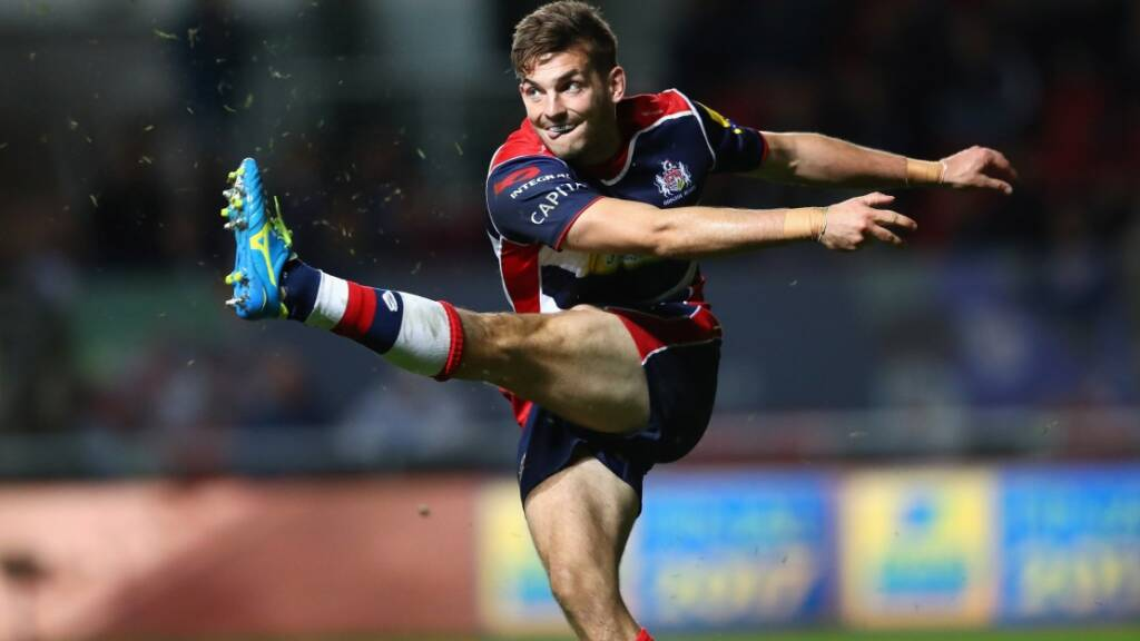 BRISTOL, ENGLAND - SEPTEMBER 30:  Will Cliff of Bristol during the Aviva Premiership match between Bristol Rugby and Saracens at Ashton Gate on September 30, 2016 in Bristol, England.  (Photo by Michael Steele/Getty Images)