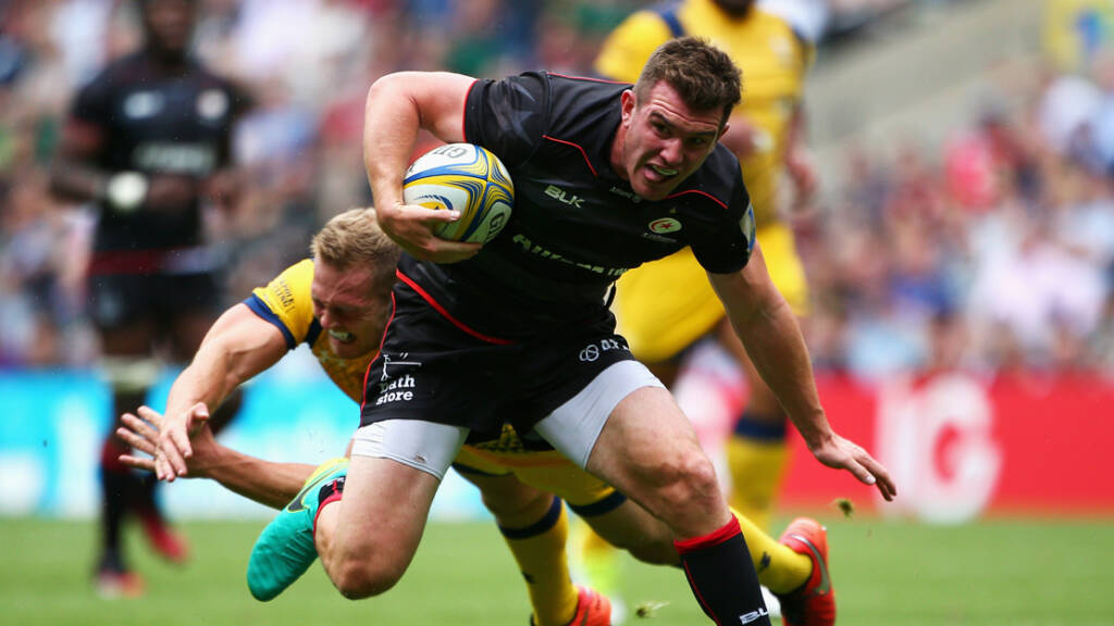 Saracens Team to face Leicester Tigers