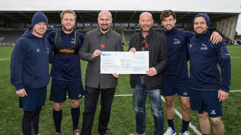 Alan Shearer visits Newcastle Falcons