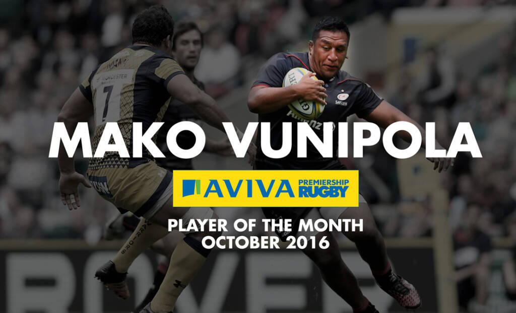 Mako Vunipola named Aviva Premiership Rugby Player of the Month for October 2016