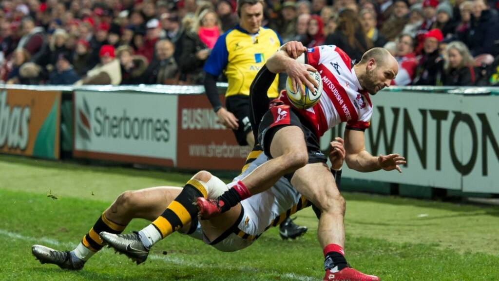 Charlie Sharples struck late for Gloucester Rugby