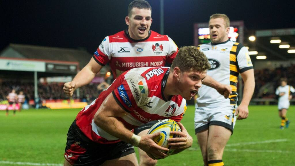 Henry Purdy crossed in the 80th minute for Gloucester Rugby