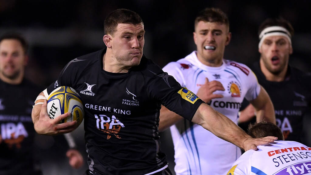 Newcastle Falcons team to face Northampton Saints