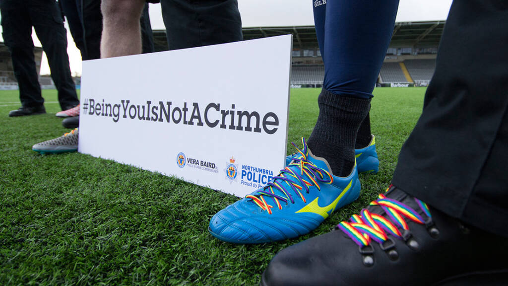 Newcastle Falcons players to wear rainbow laces in support of Stonewall campaign