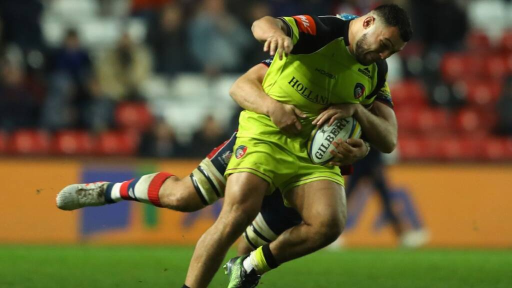Ellis Genge scored for Leicester Tigers against his former club