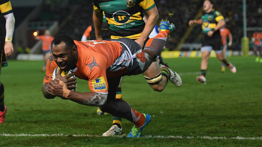Vereniki Goneva at full speed as Newcastle Falcons host Harlequins