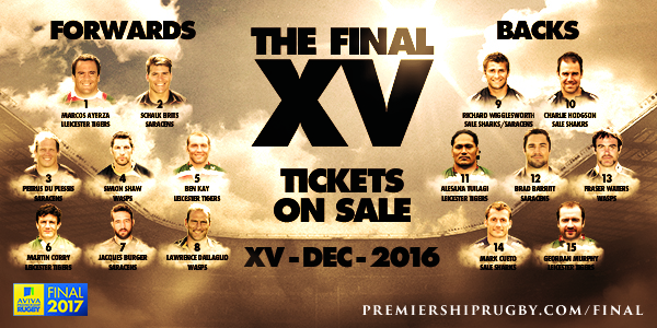 The Greatest Premiership Rugby Final XV