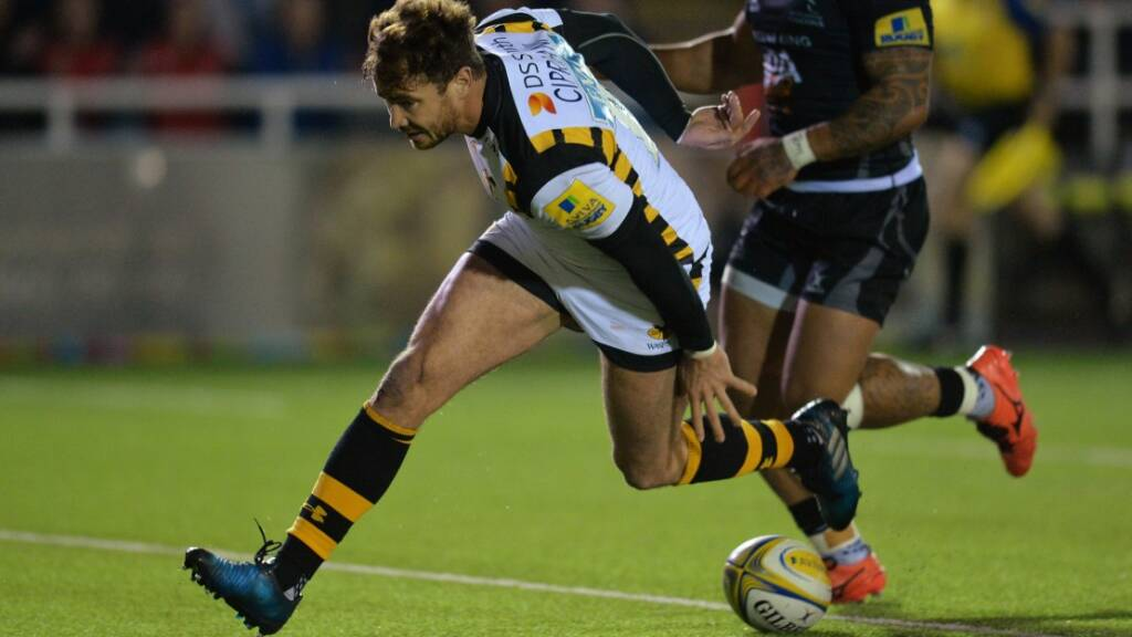 Danny Cipriani scored Wasps' first try of the night at Kingston Park