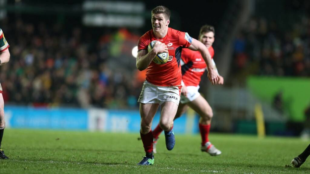 Owen Farrell scored all 16 of Saracens' points
