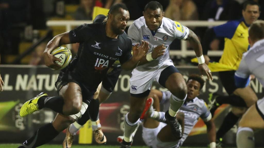 Vereniki Goneva scored a crucial try for Newcastle Falcons in their win over Bath Rugby