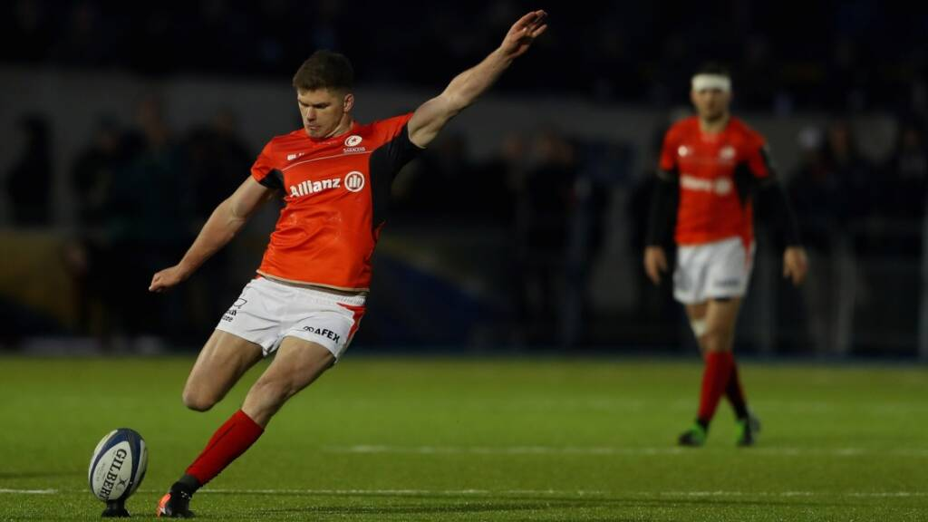 Owen Farrell kicked five points in Saracens victory over Toulon