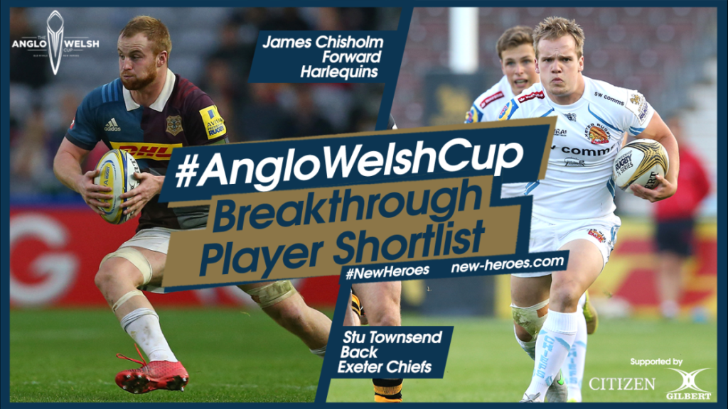 Harlequins' James Chisholm and Exeter Chiefs' Stu Townsend join shortlist