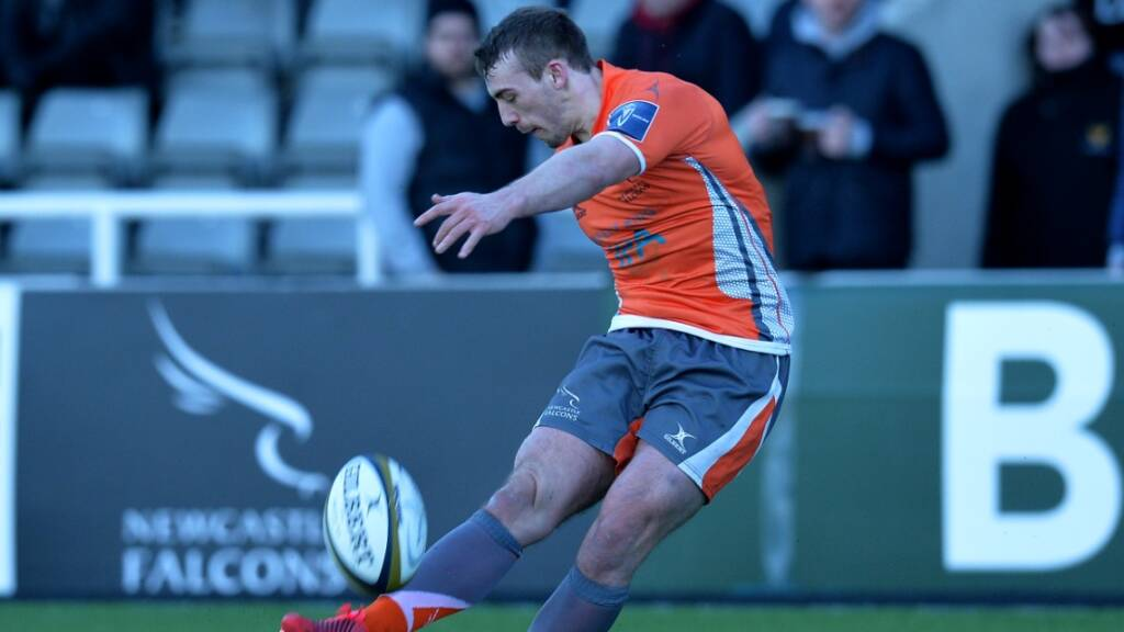 Craig Willis kicked a crucial eleven points for Newcastle Falcons.