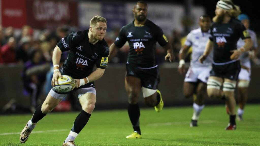 Alex Tait has scored two tries in nine Aviva Premiership Rugby games this season