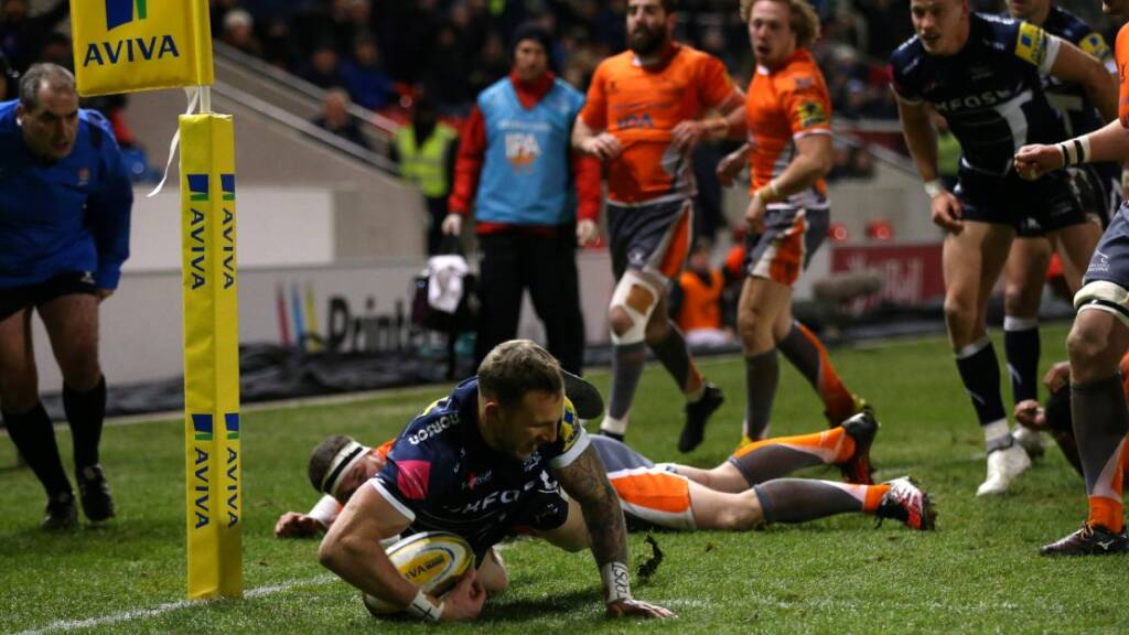 Byron McGuigan scored a crucial first-half try against Newcastle Falcons