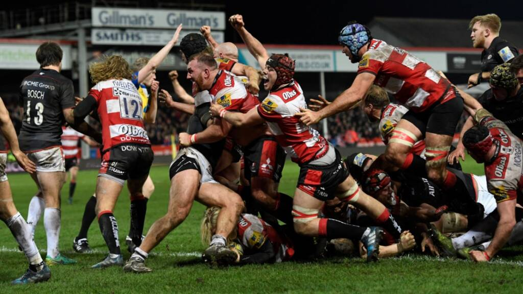 Richard Hibbard scored the crucial try for Gloucester Rugby