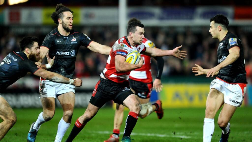 Tom Marshall made 90 metres and crossed for a try in Gloucester Rugby's win over Saracens