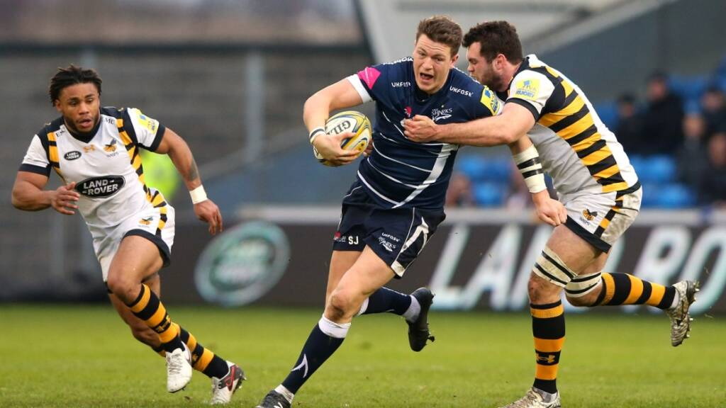 Sam James, 22, was starting his 13th Aviva Premiership Rugby game of the season.