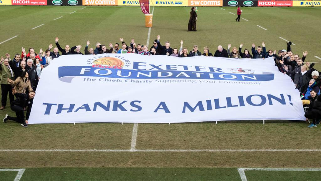 Exeter Charity Celebrates hitting £1m milestone