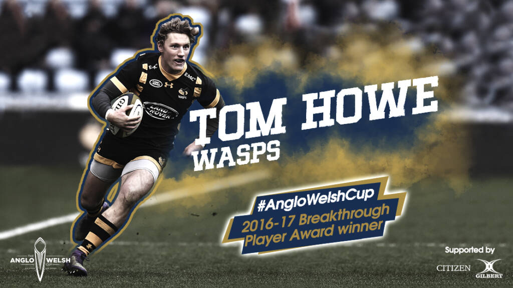 Tom Howe wins Anglo-Welsh Cup Breakthrough Player Award