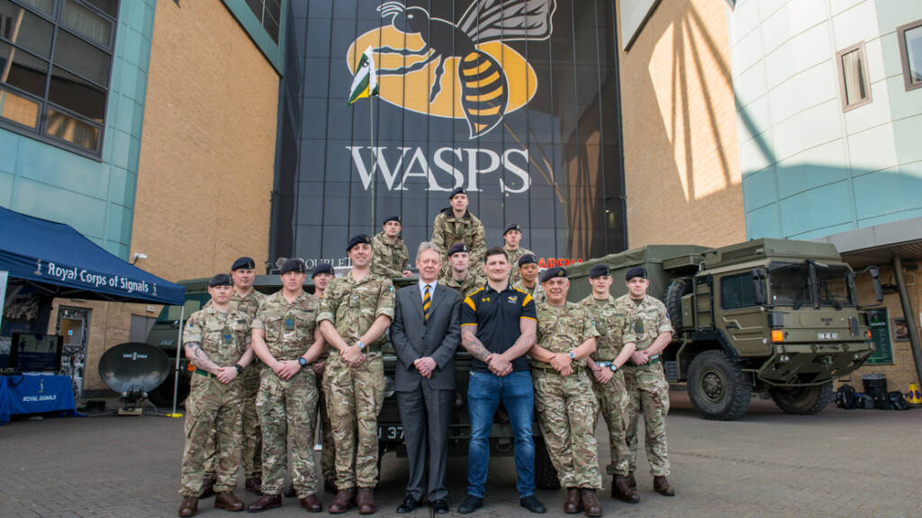 Wasps to sign Armed Forces Covenant this Sunday