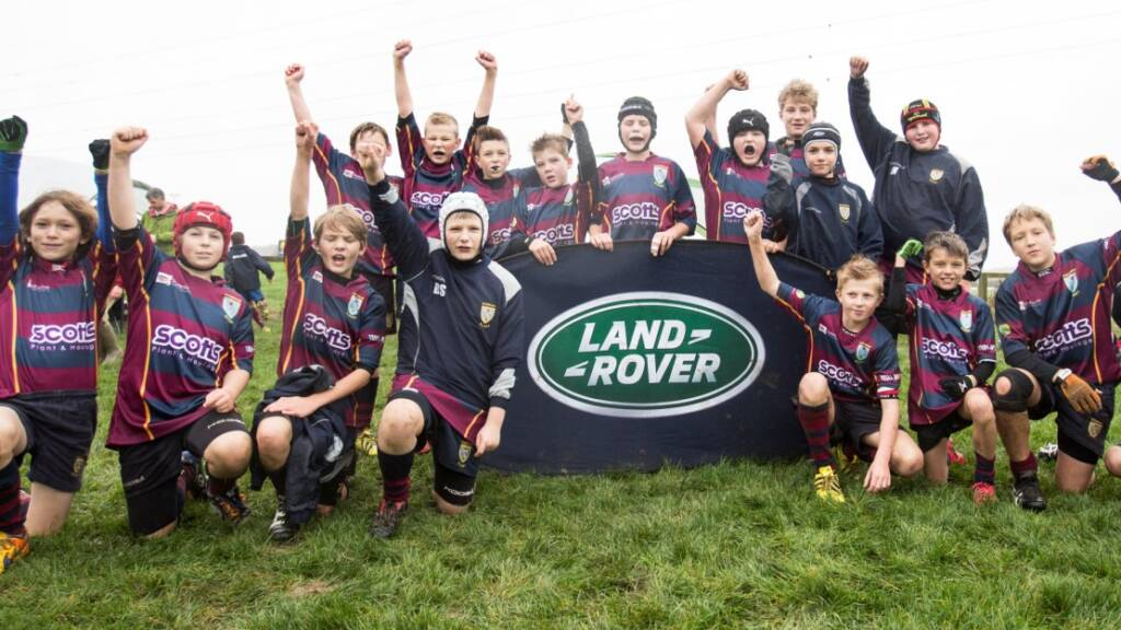 Young rugby players all set for Worcester Warriors' Land Rover Premiership Rugby Cup