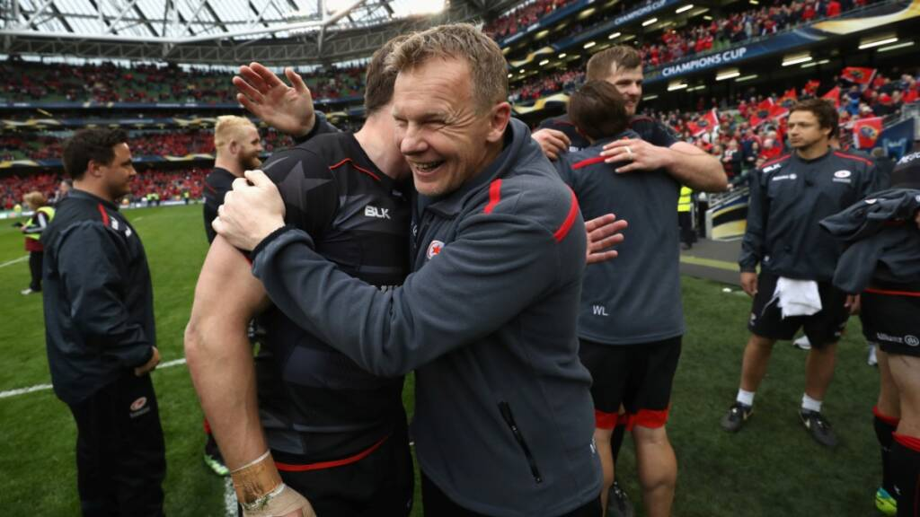 Mark McCall reacts to Champions Cup draw