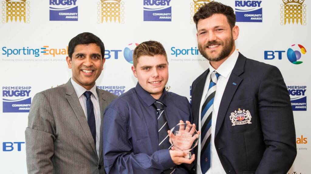 Bath Rugby youngster collects PLAY Achiever of the Year Award at star-studded House of Commons event