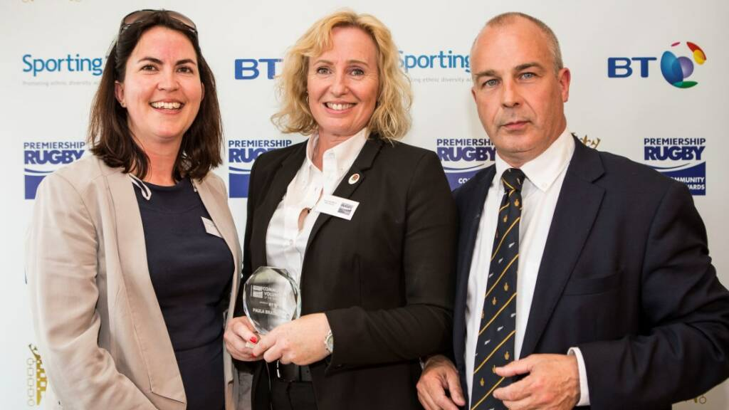 Sale Sharks volunteer sees hard work rewarded at Premiership Rugby Parliamentary Community Awards