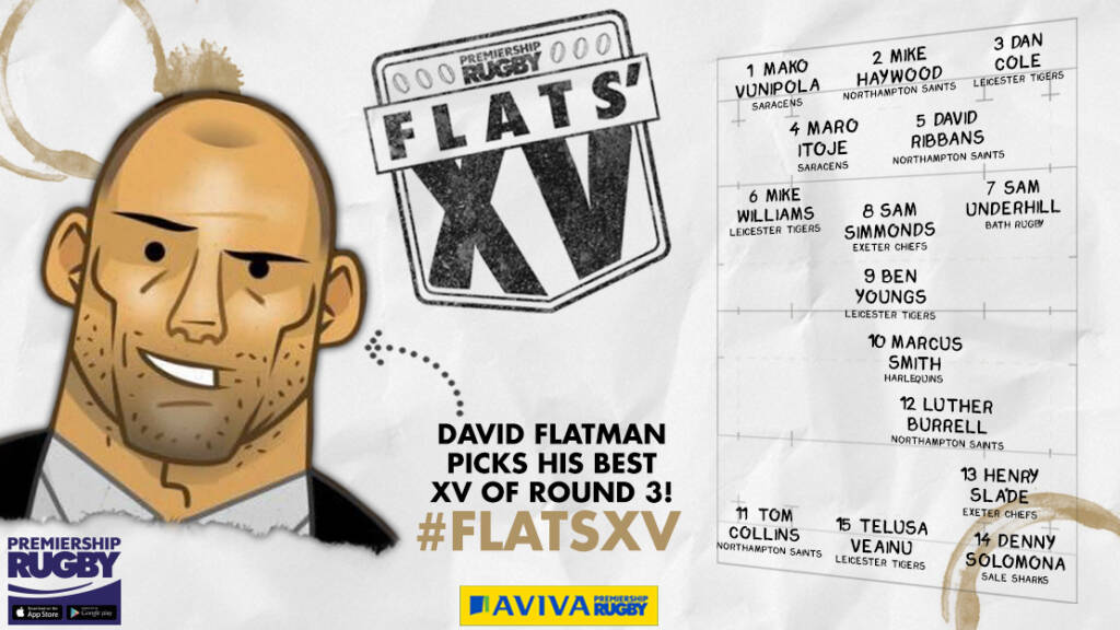 Flats selects his XV from Round Three of Aviva Premiership Rugby