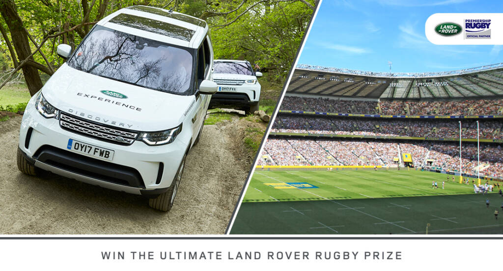 Rugby fans can win the ultimate Land Rover Rugby Prize this season!