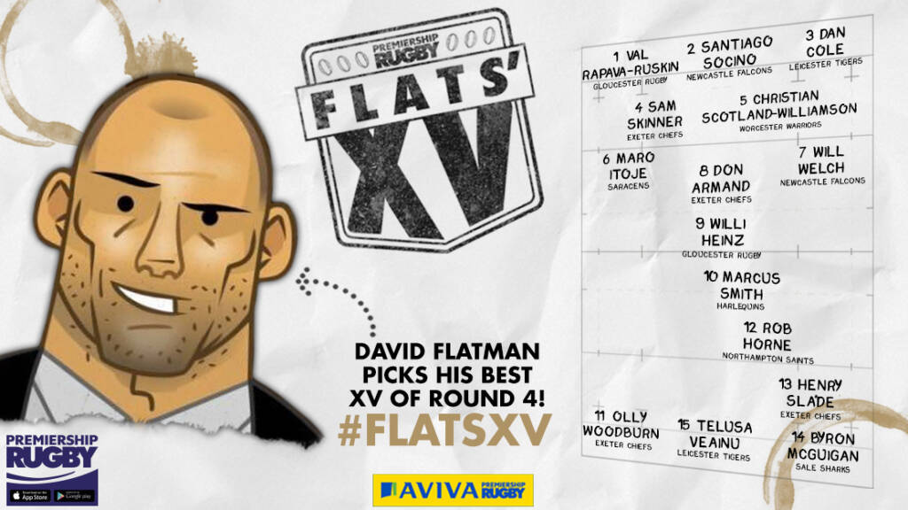 Flats selects his XV from Round Four of Aviva Premiership Rugby