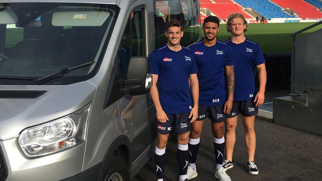 Sale Sharks Community Trust takes delivery of new minibus