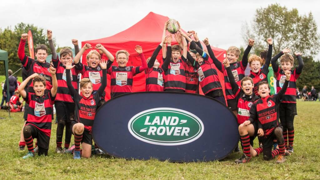 Redruth and Penryn youngsters celebrate ten seasons of the Land Rover Premiership Rugby Cup in style