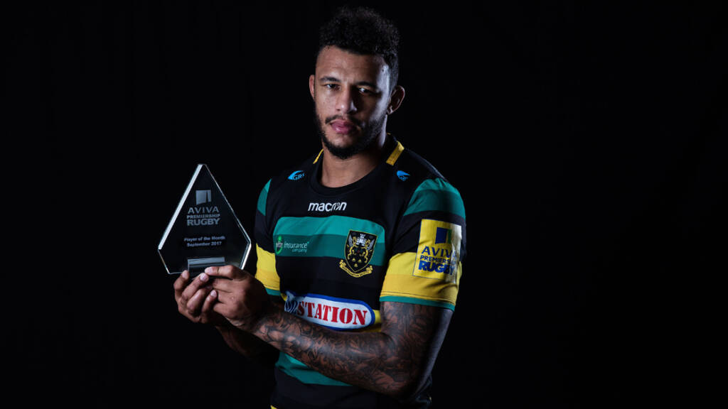 Courtney Lawes named Aviva Premiership Rugby Player of the Month