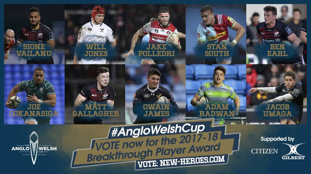 Vote for your Anglo-Welsh Cup Breakthrough Player
