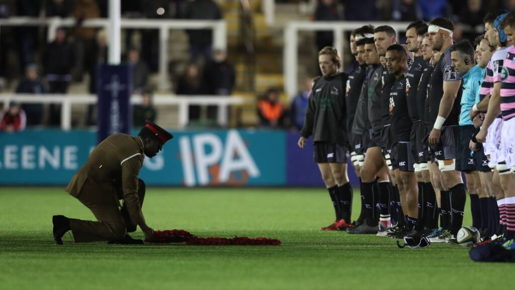 Aviva Premiership Rugby clubs commemorate Remembrance Day