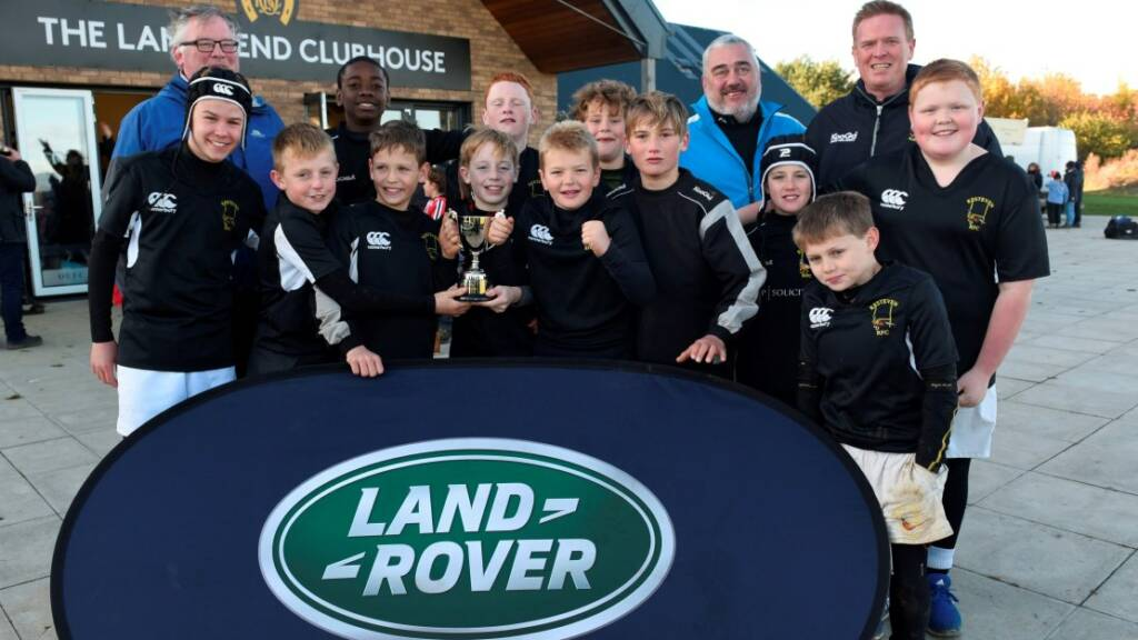 Kesteven and Bury St Edmunds youngsters celebrate ten seasons of the Land Rover Premiership Rugby Cup in style