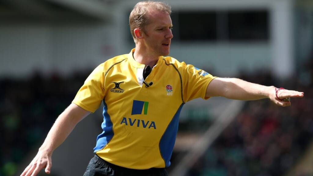 Wayne Barnes set to break record for most Aviva Premiership Rugby matches refereed