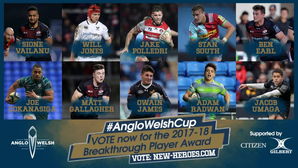 Anglo-Welsh Cup Breakthrough Player Award voting open