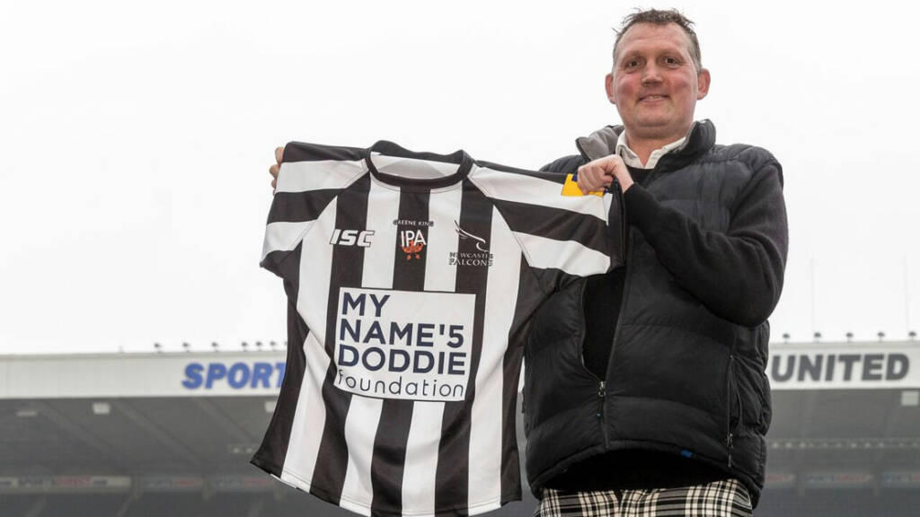 Falcons support Doddie with 'Big One' charity shirt