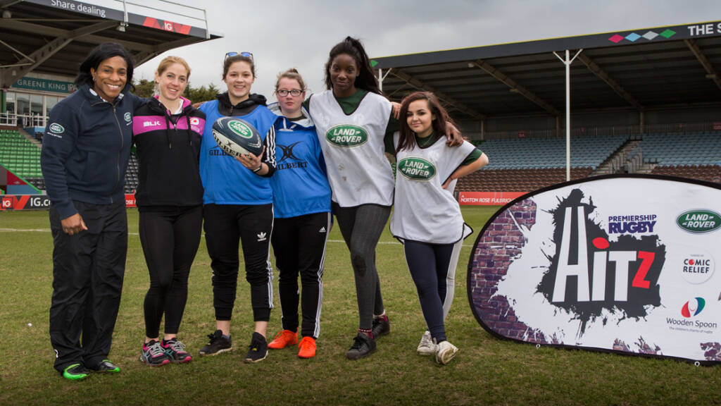 Women's Rugby World Cup winner Maggie Alphonsi inspires female HITZ participants for International Women's Day